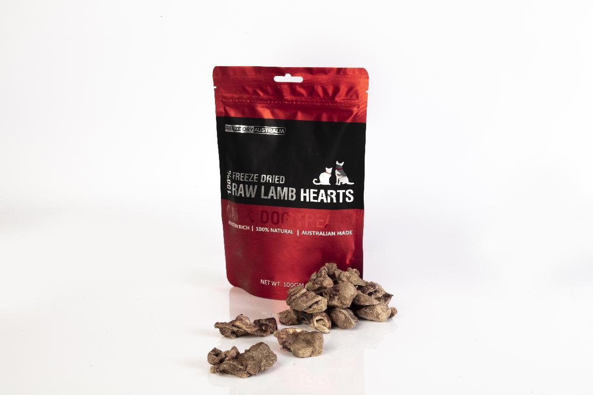 Freeze Dry Australia 犬貓通用零食冷凍乾燥系列 羔羊心 100g-犬貓零食