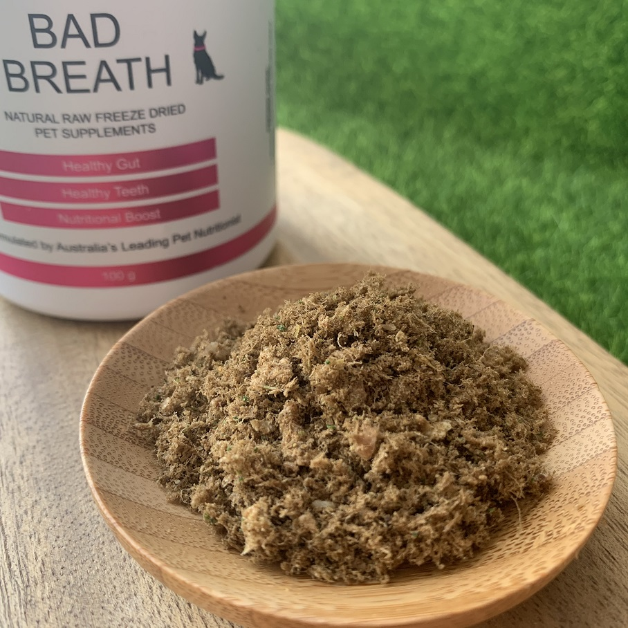 Freeze Dry Australia 冷凍乾燥食療保健系列 BAD BREATH 100g (改善口腔問題)-犬貓保健食品